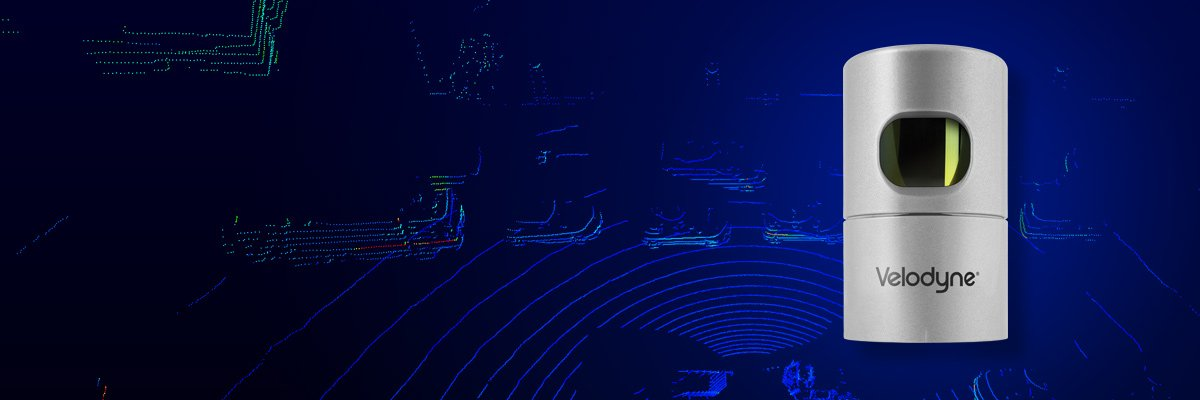 Close up of Velodyne HDL-32E and point cloud displaying data from the LiDAR scanner.