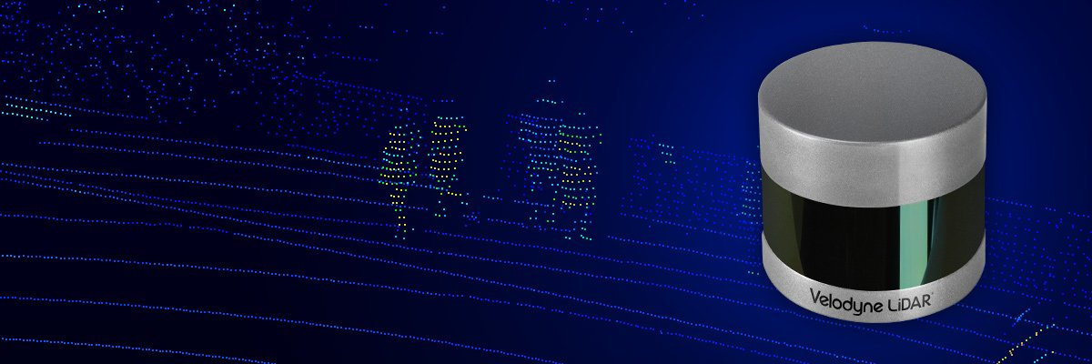 Close up of Velodyne VLP-32C and point cloud of street in Edinburgh with 4 people.
