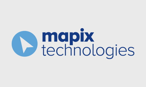 Mapix technlogies logo and strapline