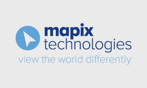 Mapix technlogies logo and strapline