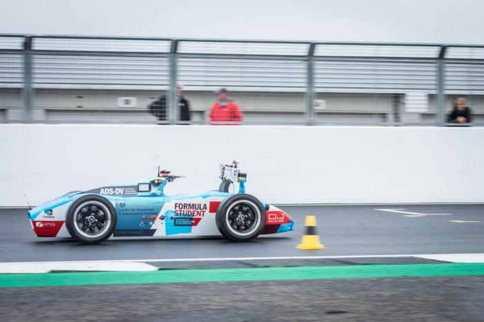 EUFS winning autonomous race car