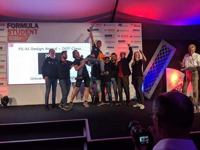 EUFS the winning FS-AI team in 2019.