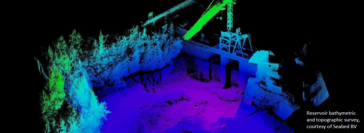 Reservoir bathymetric and topographic survey
